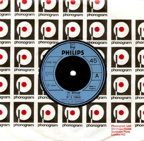 IPI 'N TOMBIA The Warrior Vinyl Record 7 Inch Philips 1974